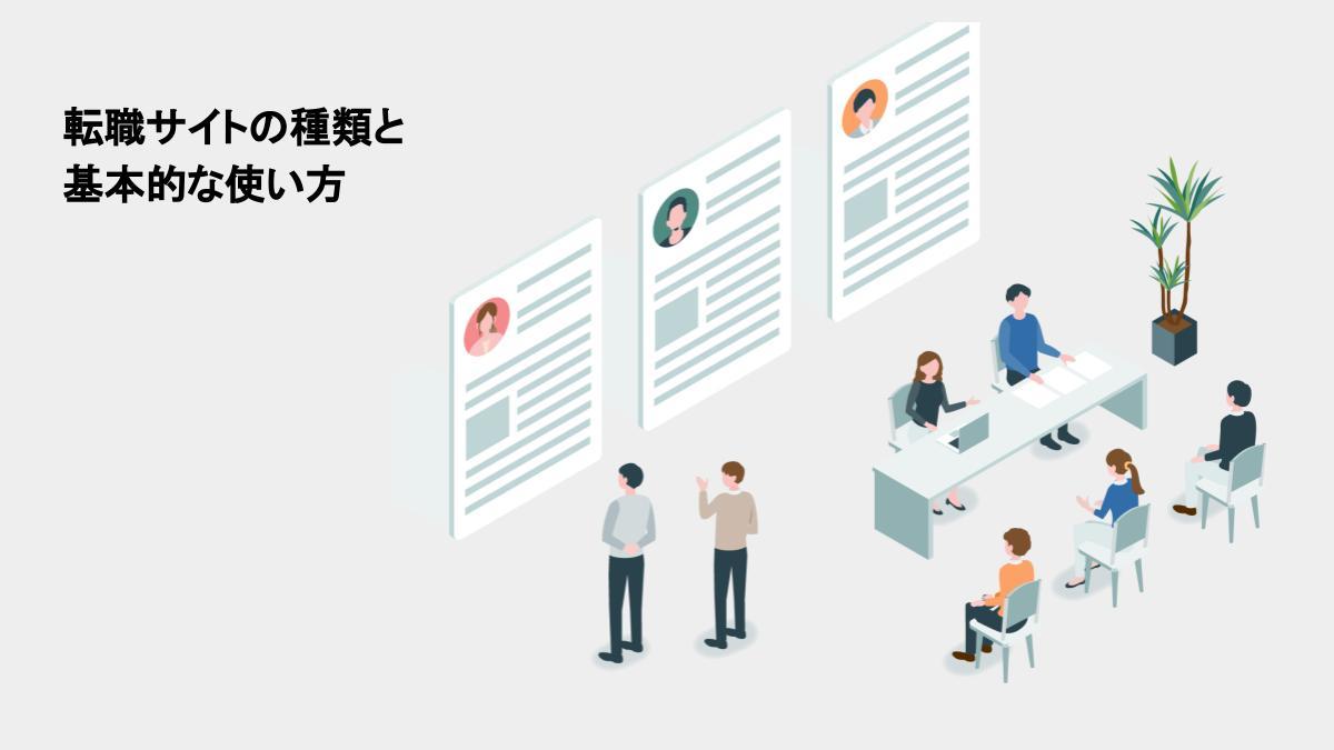 転職サイトの種類と基本的な使い方|それぞれの特徴を知り上手に転職サービスを活用しよう